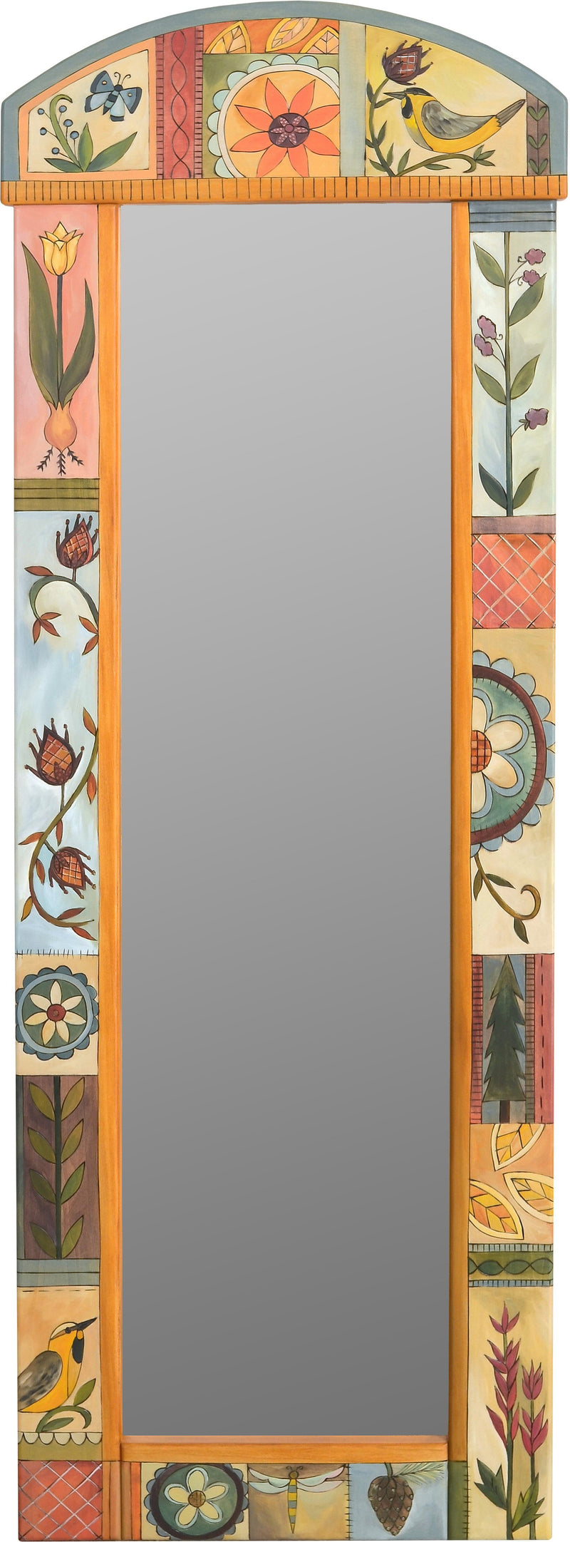 Wardrobe Mirror –  Elegant wardrobe mirror with contemporary floral motif