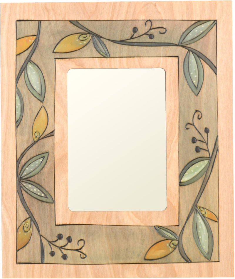 "Sticks handmade 5x7"" picture frame with botanical design"