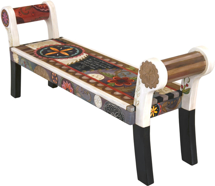 Rolled Arm Bench