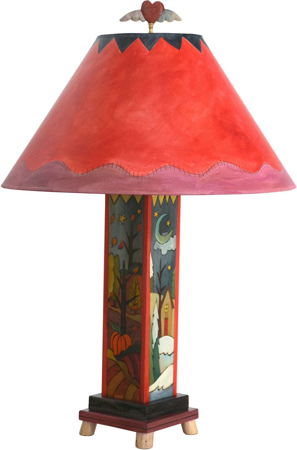 Box Table Lamp –  Colorful and vibrant four seasons table lamp
