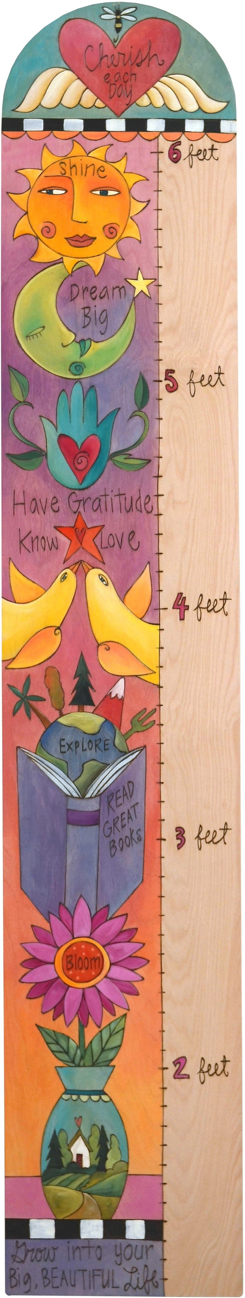 Everlasting Growth Chart –  Colorful growth chart with inspirational messages, topped with a heart with wings