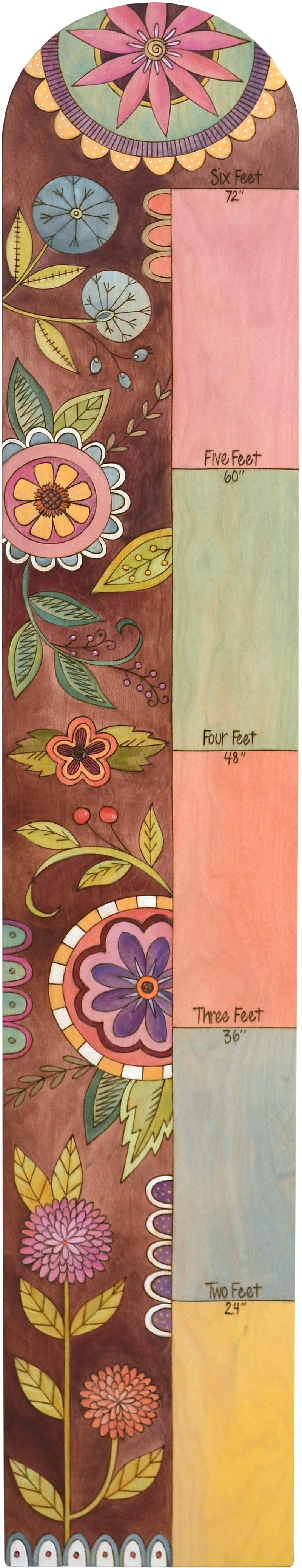 Everlasting Growth Chart –  Pretty pastel growth chart with floral motifs