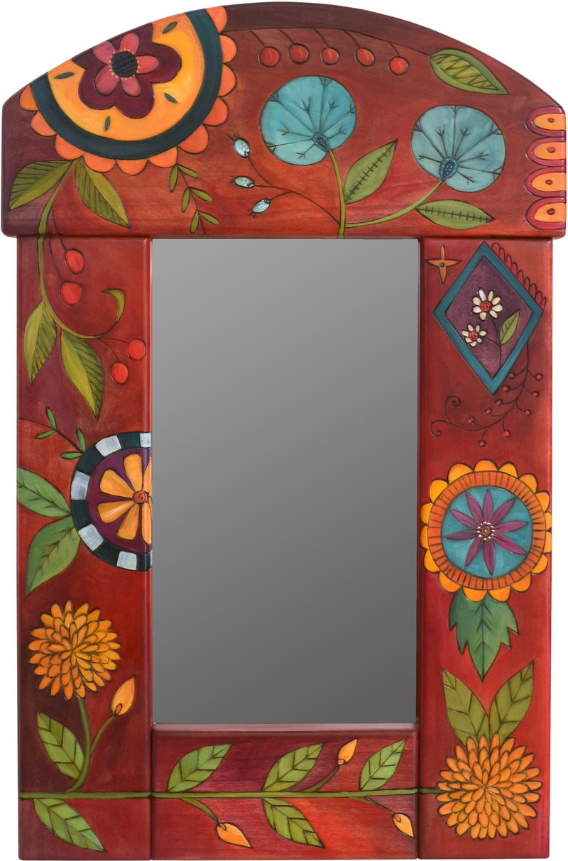 Small Mirror –  Colorful mirror with rich hues and floral motifs