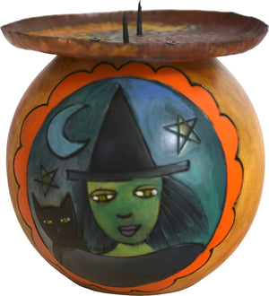 Ball Candle Holder –  A witch-y halloween motif candle holder