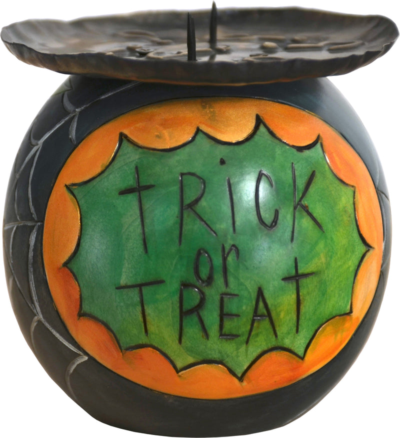 Ball Candle Holder –  Spooky spider trick-or-treat design