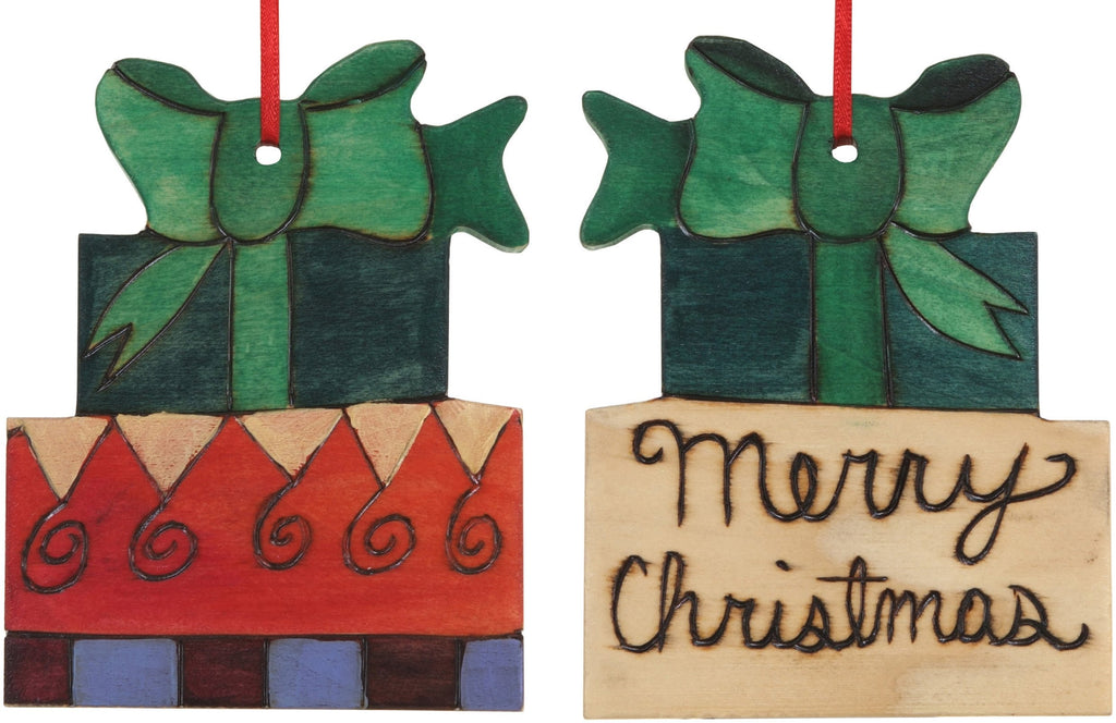 "Present Ornament –  ""Merry Christmas"" gifts ornament"