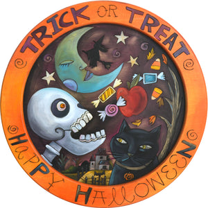 "16"" Round Tray –  The perfect ""Happy Halloween"" tray to serve your candy on!"