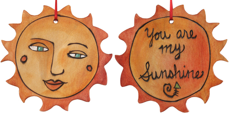 "Sun Ornament –  Elegant ""You are my Sunshine"" ornament with charming sunshine"