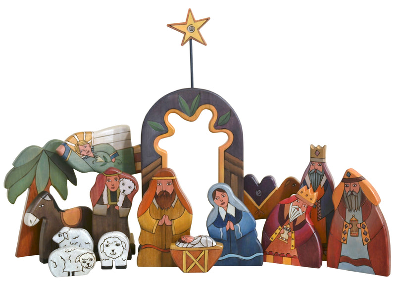 Large Nativity –  Large Nativity with blue accents