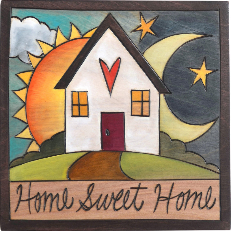 "Sticks handmade wall plaque with ""Home Sweet Home"" quote and theme"