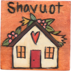 """Shavuot"" spring harvest magnet with a floral home motif"