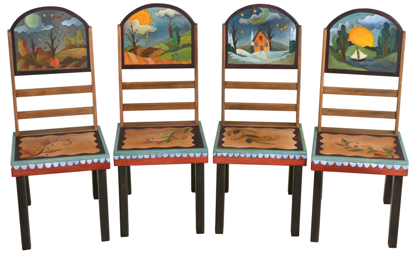 Sticks handmade chairs with four seasons design