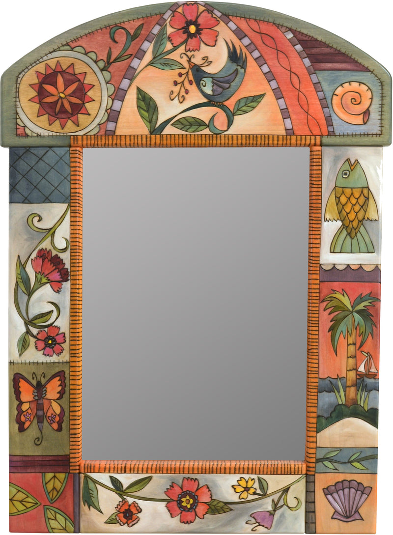Medium Mirror –  Elegant mirror with floral motif