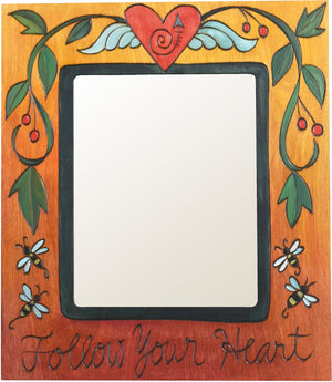 "8""x10"" Frame –  ""Follow Your Heart"" frame with heart and vine motif"