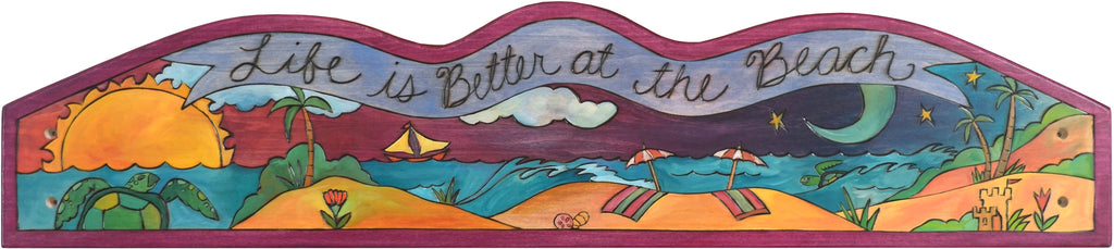 "Door Topper –  ""Life is better at the beach"" sea turtle door topper motif"