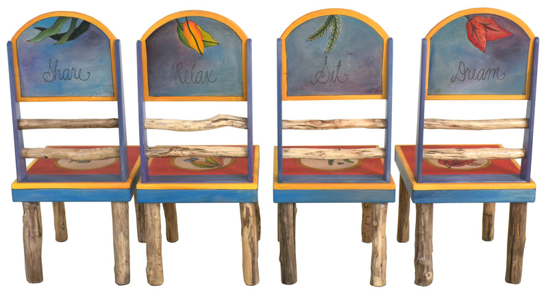 Sticks handmade chairs with tropical theme