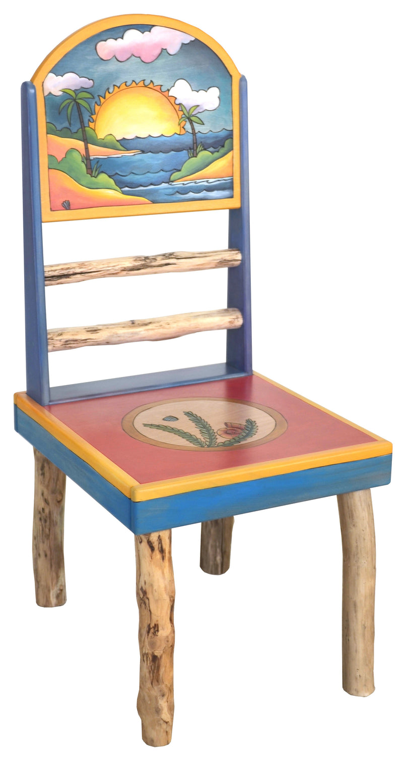 Sticks handmade chair with tropical theme
