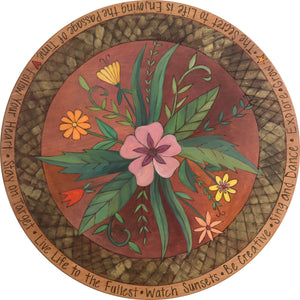 "Sticks Handmade 24""D lazy susan"