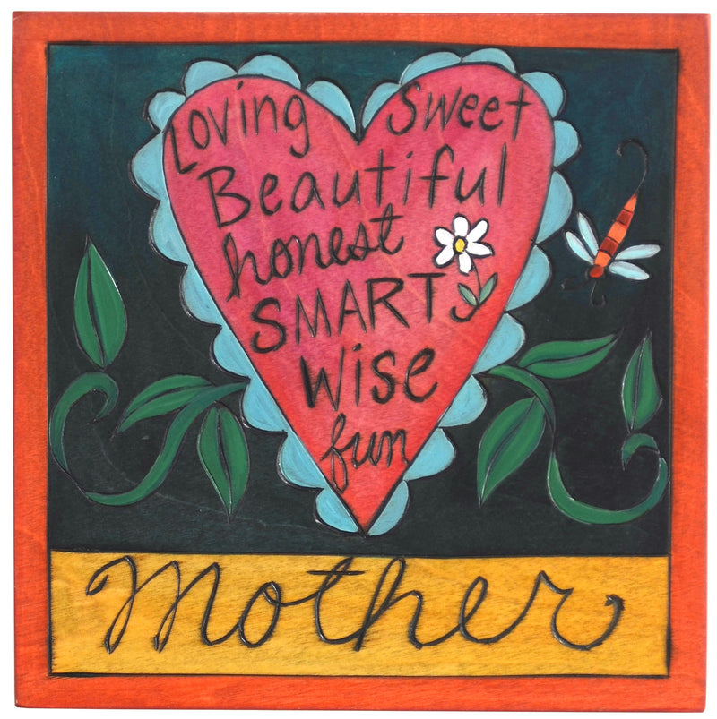 "7""x7"" Plaque –  Beautifully descriptive ""mother"" plaque design"