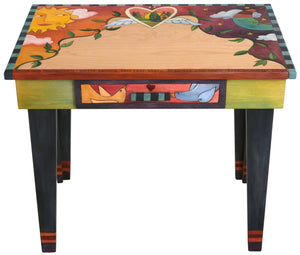 Small Desk –  Love Birds small desk with sun and moon motif