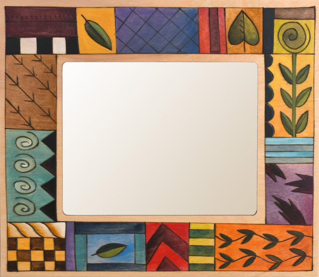 "8""x10"" Frame –  Color block and pattern icon picture frame"