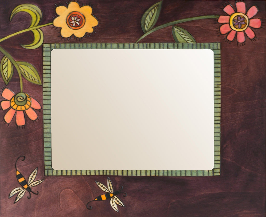"8""x10"" Frame –  Frame with flower and bee motif"