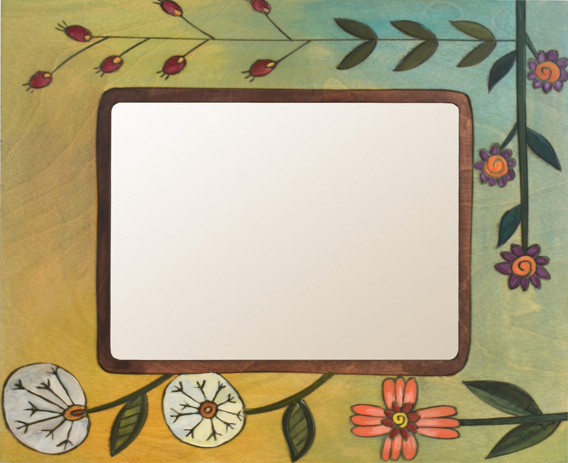 "8""x10"" Frame –  Frame with yellow themed floral motif"