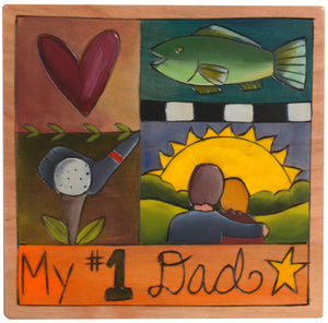 """My #1 Dad"" crazy quilt icons motif"