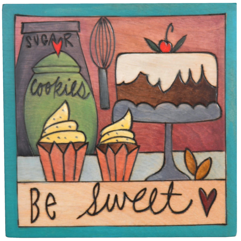 "Sticks handmade wall plaque with ""Be Sweet"" quote and design"