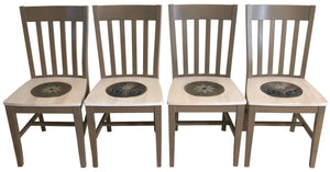 Sticks handmade chairs with elegant floral design