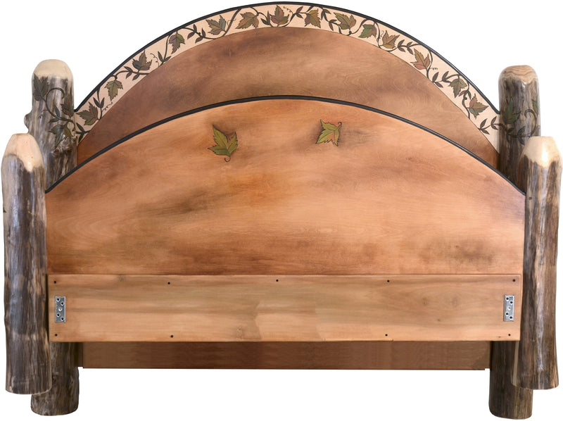 Queen Bed –  Beautifully simple queen bed with grapevine motif