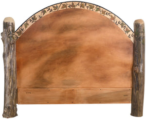 Queen Headboard –  Beautifully simple queen headboard with fall leaves motif