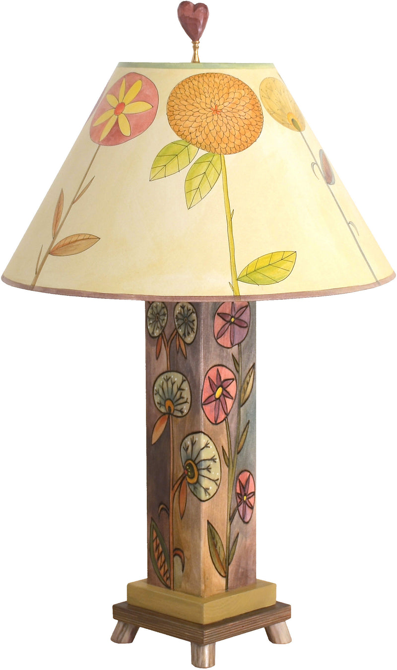 Box Table Lamp –  Elegant and neutral color palette table lamp with floral motifs