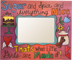 "Sticks handmade 5x7"" picture frame with little girls design"