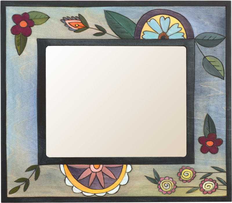 "8""x10"" Frame –  Frame with blue themed floral motif"