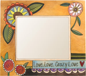 "8""x10"" Frame –  Love, Love, Crazy Love frame with floral motif"