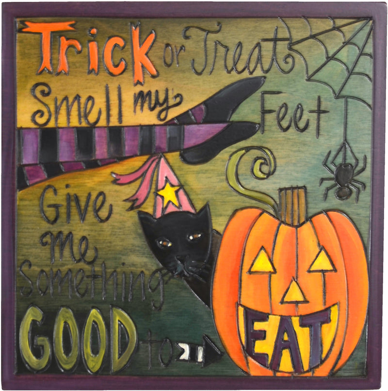 "7""x7"" Plaque –  A fun Halloween poem plaque"