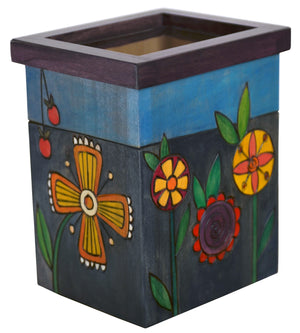 Vase/Utensil Box – Beautiful in blue floral box design, perfect to use as a vase