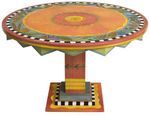 Sticks handmade dining table with colorful tropical theme