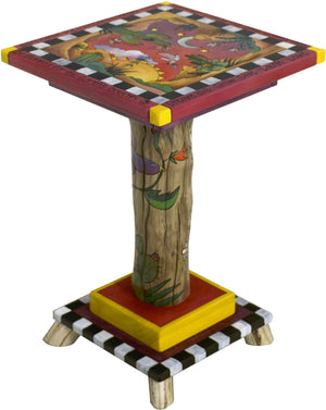 Martini End Table –  Fun and eclectic southwest themed folk art end table
