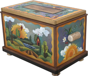 "Chest –  ""My Treasures"" chest with changing seasons motif"