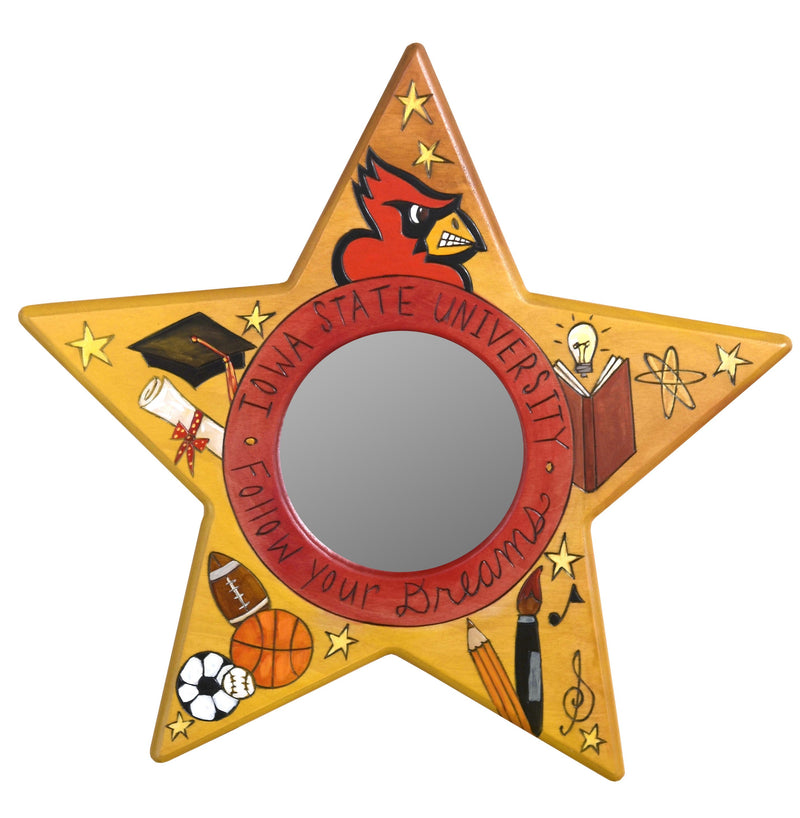 Iowa State Star Shaped Mirror –  Star shaped mirror honoring Iowa State University