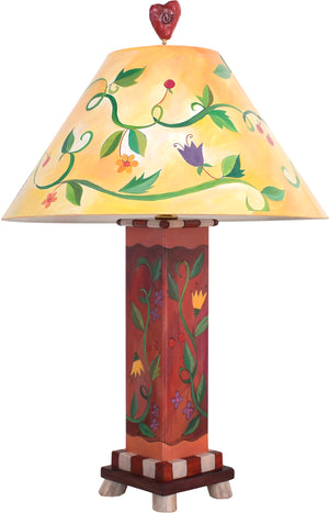 Box Table Lamp –  Contemporary table lamp with vine and floral motifs