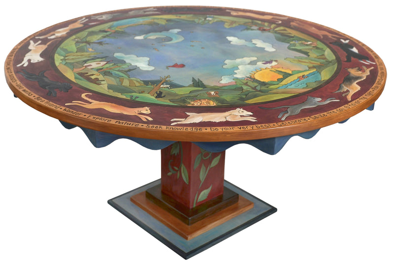 "72"" Round Dining Table"