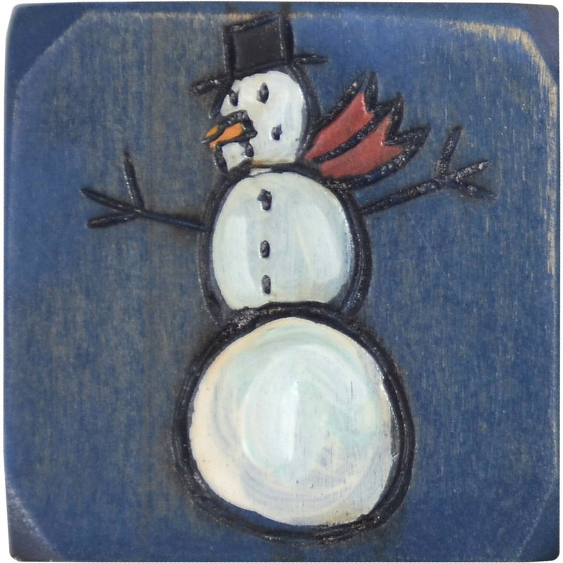 Small Perpetual Calendar Magnet –  Small perpetual calendar magnet with smiley snowman motif