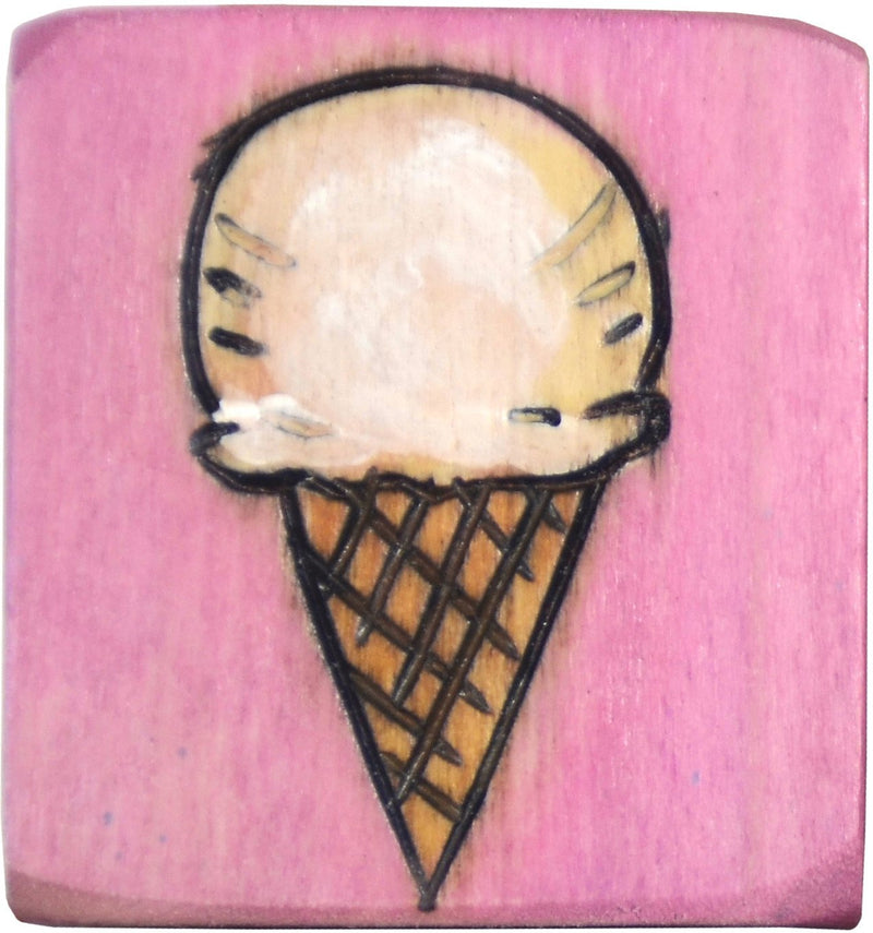 Small Perpetual Calendar Magnet –  Small perpetual calendar magnet with ice cream cone motif