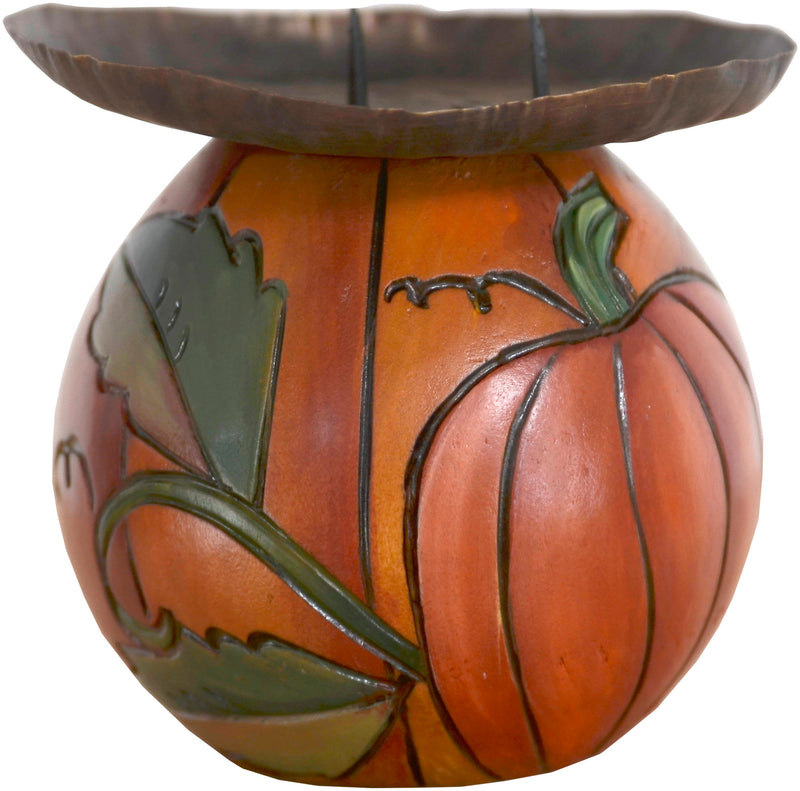 Ball Candle Holder –  Cute autumn pumpkin ball candle holder motif