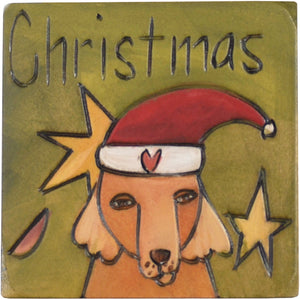 Large Perpetual Calendar Magnet –  Mark Christmas on your calendar with Santa Paws