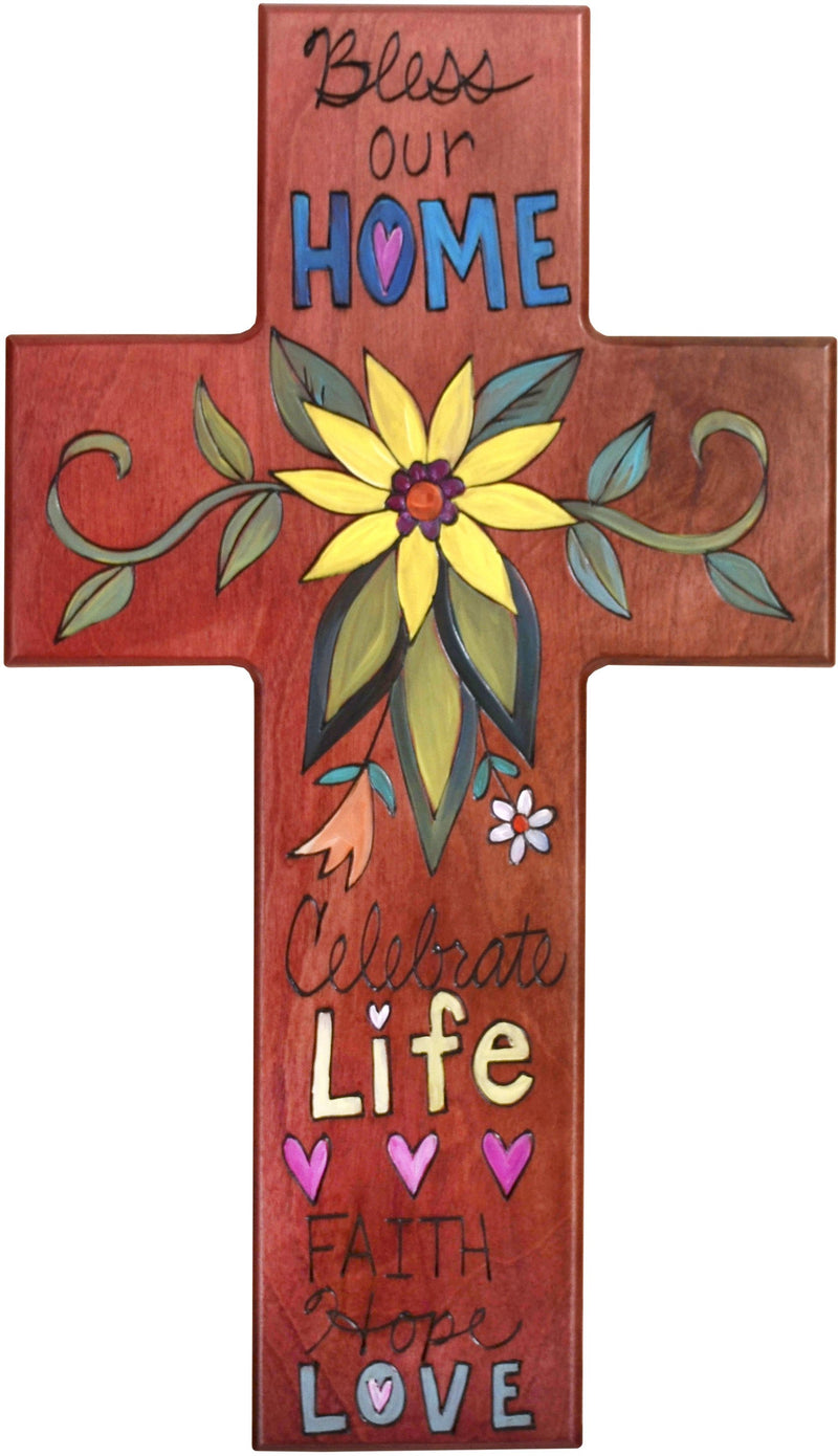 Sticks handmade cross plaque