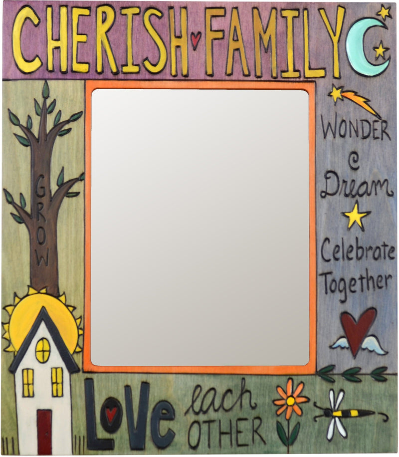 "8""x10"" Frame –  ""Cherish Family"" frame with inspirational messages and tree of life"